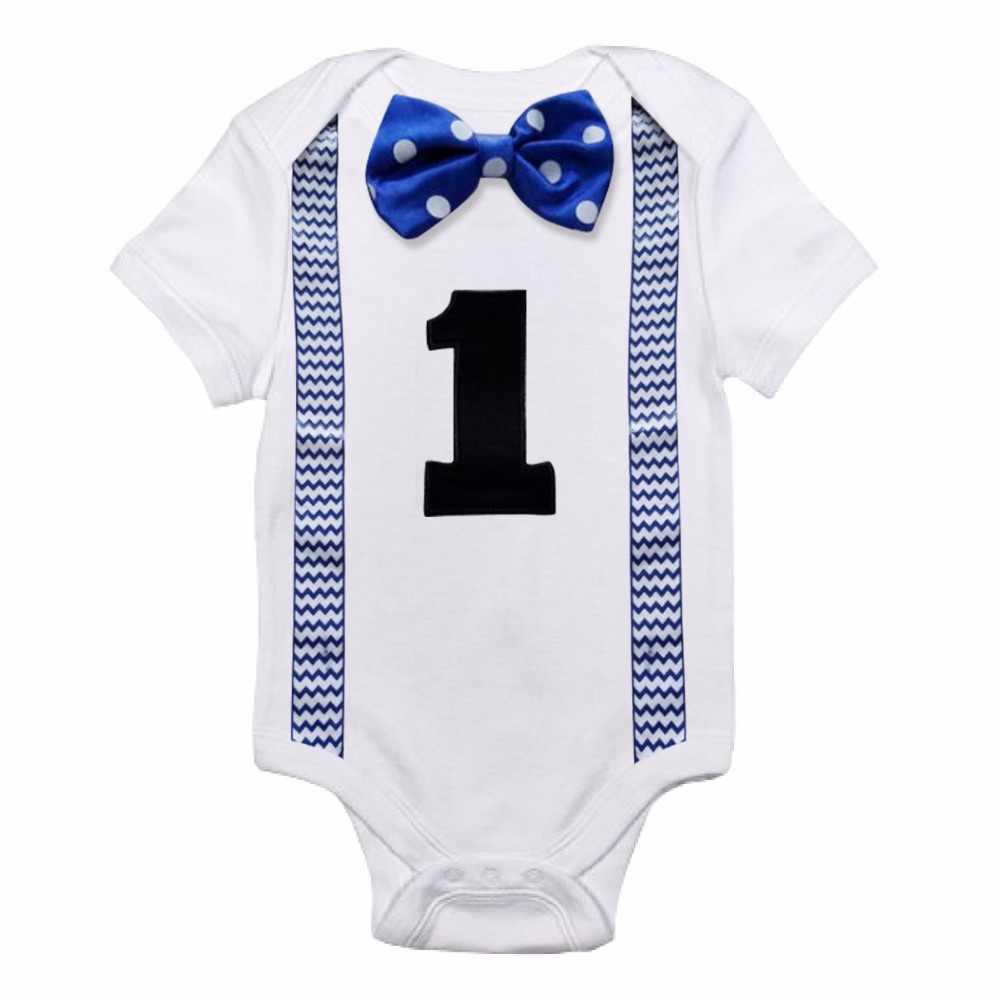 928098a09 Bebé recién nacido Ropa de niño de bebé mono tirantes corbata poco  Caballero trajes Primer Cumpleaños