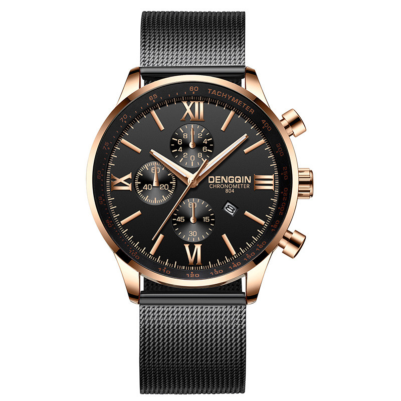 2019 Fashion Men'S Watch Relogio Masculino Business Date Mens Watches Top Brand Luxury Steel Reloj Hombre Gold Erkek Kol Saati(China)