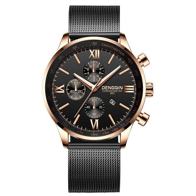 2019 Moda Homens Assistir Relogio masculino Negócios Data Mens Relógios Top Marca de Luxo de Aço Reloj Hombre Ouro Erkek Kol Saati