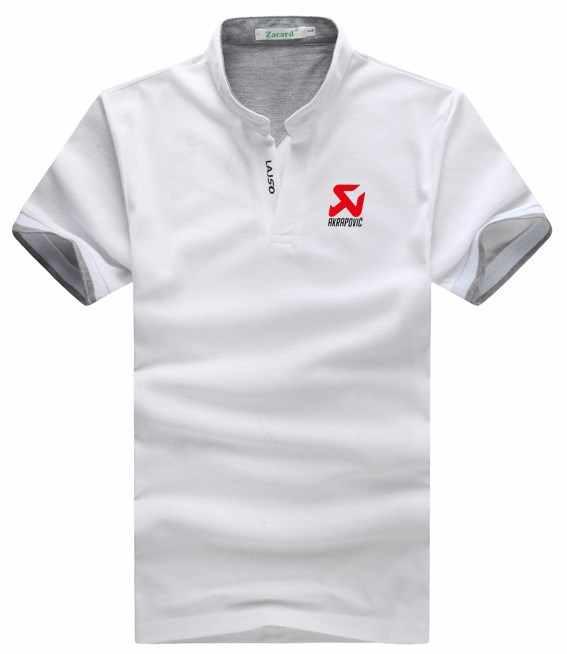 60b067bdf ... Summer Clothing polo shirt Men Solid Color Slim Fit Short Sleeve Shirts  Men Mandarin Collar AKRAPOVIC ...
