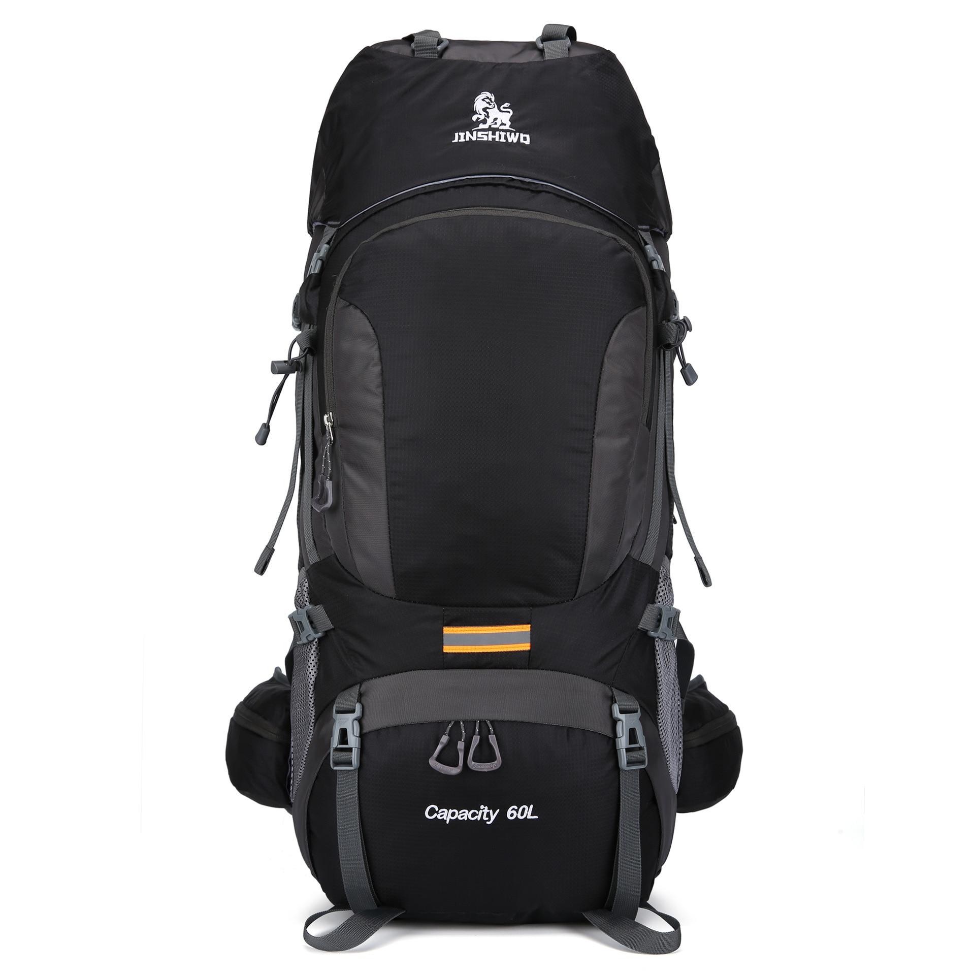 outdoor hiking bag 60L Waterproof Backpack Camping Rucksack man women climbing pack nylon large capacity