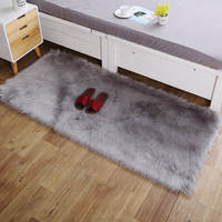 Home White Plush Carpet faux Wool Carpet Living Room Bedroom Bedside rug Carpet shaggy rug Window Decoration mat tapetes