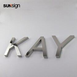 Argento spazzolato piccolo decorativi in metallo taglio alfabeto lettere