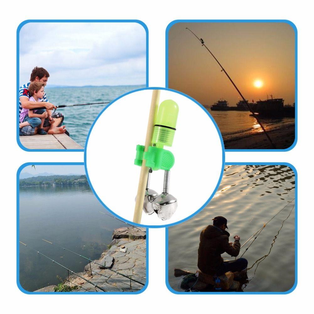 Cheap wholesale 5pcs night fishing rod tip red led light for Best light for night fishing
