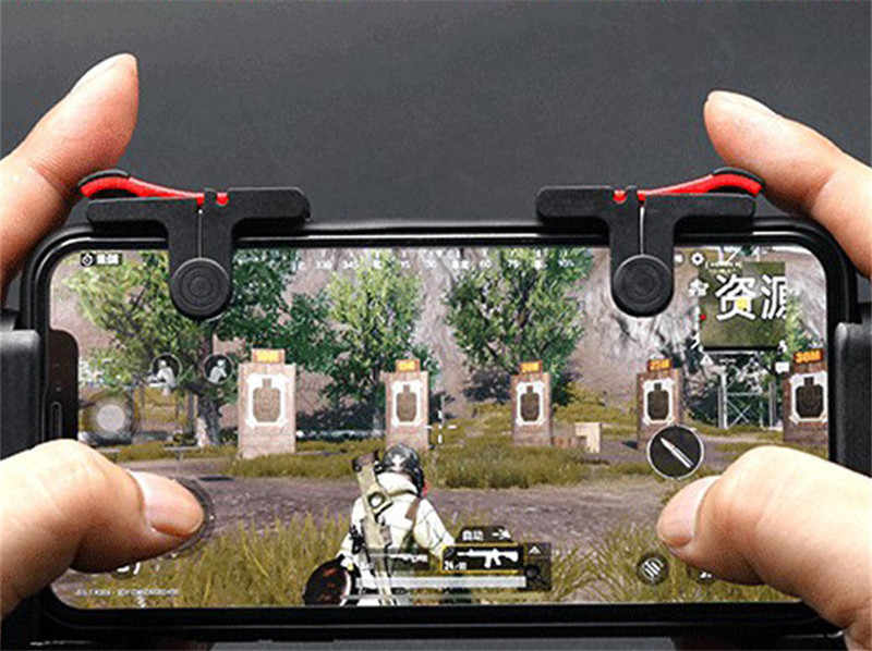 Mobile Game Controller Gamepad L1R1 Mobile Phone Joystick Sensitive Shoot and Aim Triggers for PUBG/Knives Out/Rules of Survive