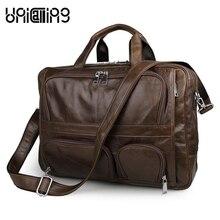 Men's business bag handbag genuine leather large capacity brand high-grade quality cow leather laptop bag 17 inch luggage bag