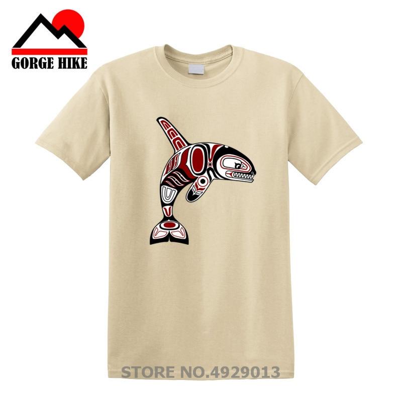 Printed T-Shirt,Big White Whale Ocean Fashion Personality Customization