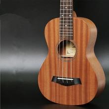 23″ Concert Ukulele Mini Hawaiian 4 strings Guitar Mahogany Body Fishbone pattern Electric Ukulele with Pickup EQ Uke Best Gift