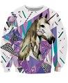 Ácido Wavves Crewneck camisola unicórnio com vibrante padrões e cheetah 3d , puxar Jumper suam Hoodies casuais para as mulheres homens