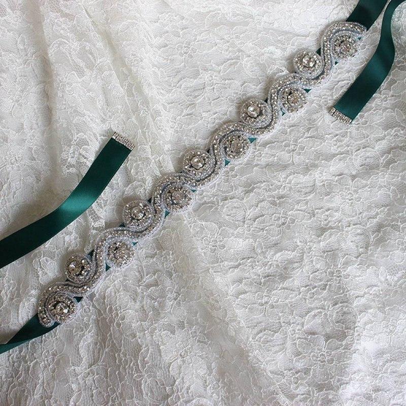 Handmade Wedding Belt Crystal Rhinestone Girdle Elegant Crystal Rhinestone Wedding Belt Bridal Accessory