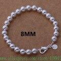 Envío gratis de plata chapada pulsera, 925 joyas de plata plateó la joyería 8 MM cuentas buda / egnamxua bhpajywa AH272