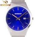 BINSSAW топ luxury brand new мужчины часы водонепроницаемые ультра-тонкий календарь часы мужской полосы досуг кварцевые часы мужские спортивные часы