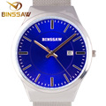 BINSSAW top luxury brand new men watch waterproof ultra-thin calendar clock male strip leisure quartz watch men's sports watch