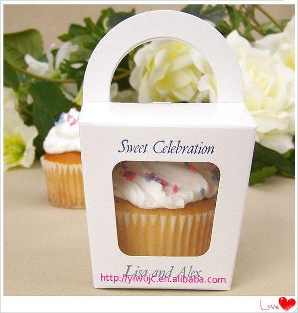 NEW- 100pcs Wedding Tote Cupcake Boxes, Party Treats Box , Favor Box, Candy Box, Takeout Box (JCO-277)