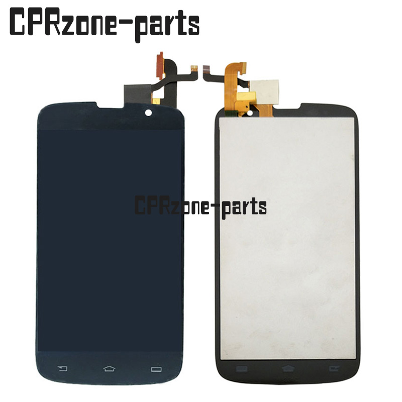 100% Warranty LCD Screen Display With Touch Screen Digitizer Glass assembly FOR Philips Xenium W8555 by free shipping