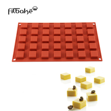 032e76370af FILBAKE New Silicone 35 Cavity Mini Square Cake Dessert Cracker Moulds  Chocolate Mold Baking Molds Kitchen