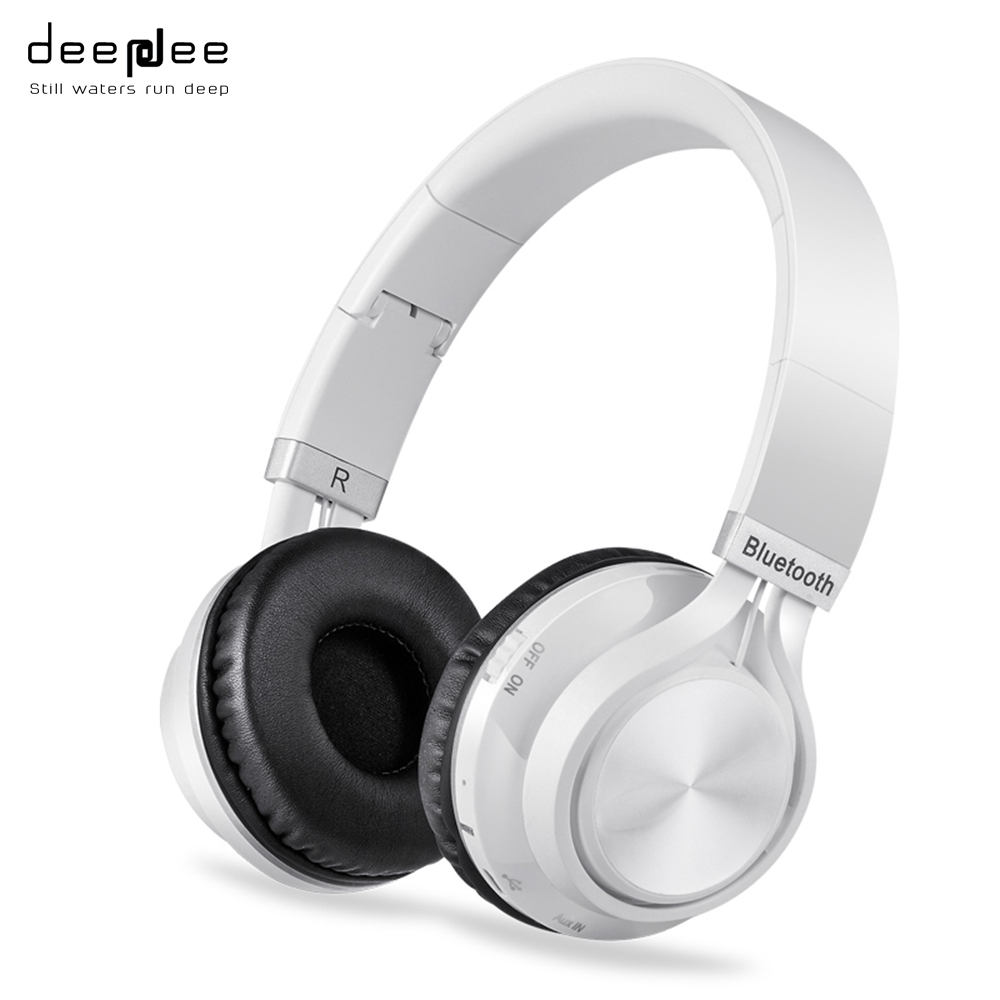 DEEPDEE Wireless Bluetooth Headphones with Microphone TF Card FM Radio Stereo Sound Hands-free  Calls Hradset for Mobilephone футболка с рисунком ido ут 00004087