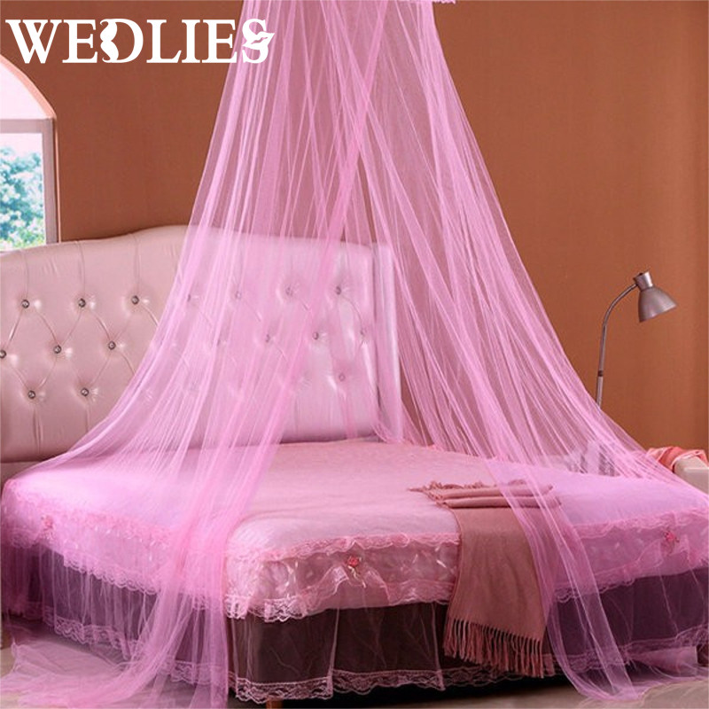 Summer Mosquito Net Round Dome Elegent Lace Bed Netting Canopy ...