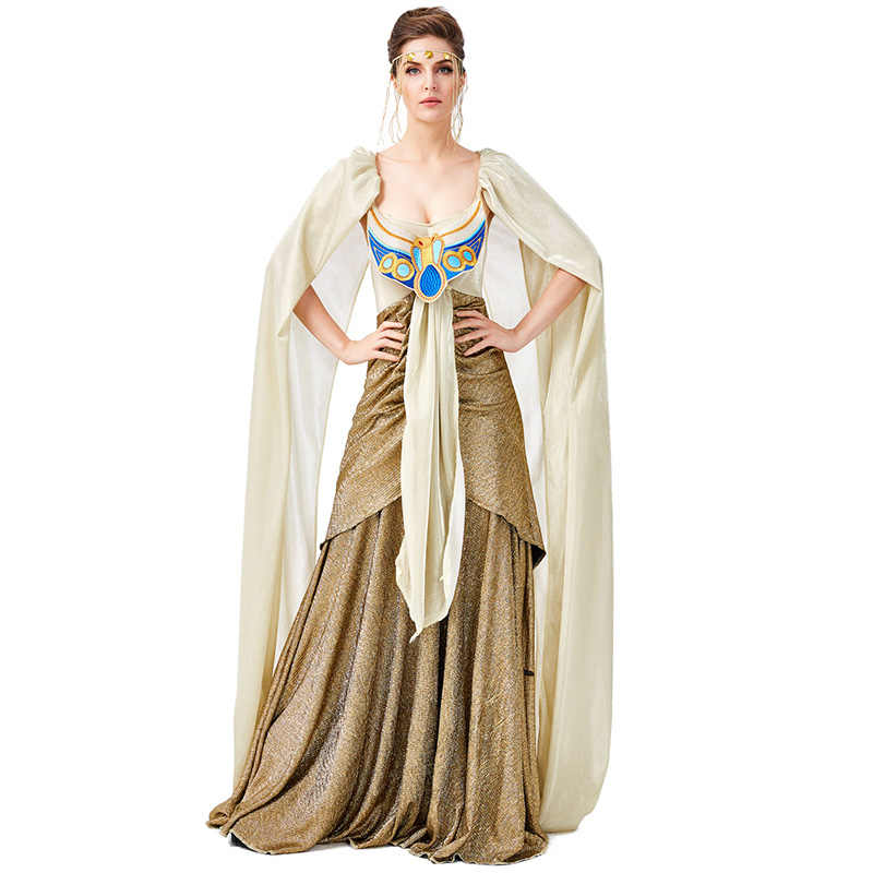 Gold Sexy Medieval Egyptian Cleopatra Costume Adult Cosplay Egypt ...