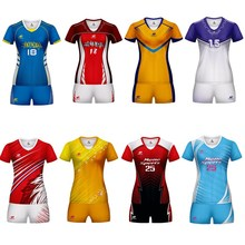 Marshal 2019 Custom Volleyball Uniform Set Sports Suit Female Men Sublimation Breathable Can Design Shorts Women
