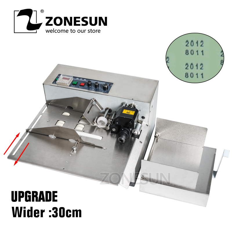 ZONESUN Printing Machine 3 30cm My 380F Produce Solid Ink Roll Coding Card Bag Continuous Date