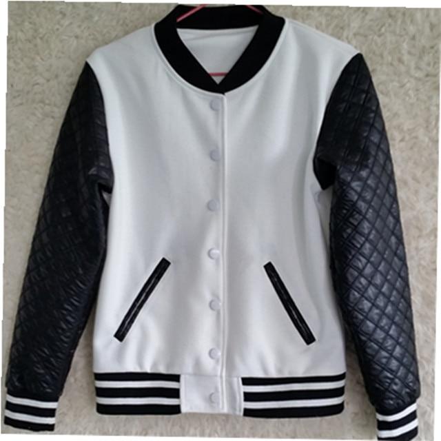 jh 2015 Jessica Alba women leather baseball jacket-in Basic ...