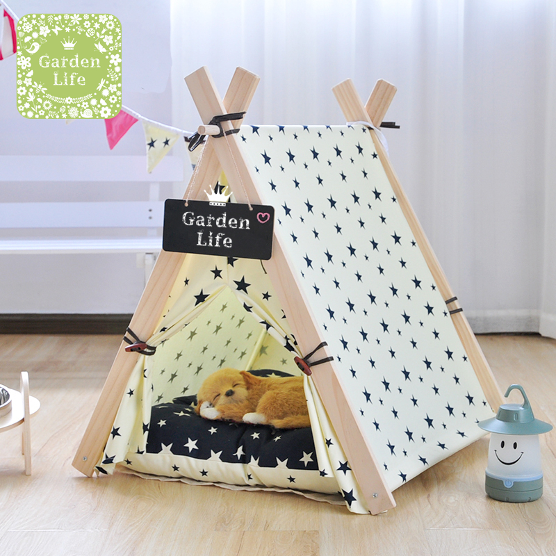 garden life foldable pet tent dog bed cat bed pet house teepee tent pet play house. Black Bedroom Furniture Sets. Home Design Ideas