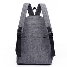 Men's Stylish Canvas Backpack without Pattern for Laptop