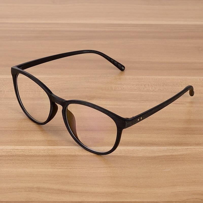 NOSSA Brown Vintage brýle Klasické ženy a pánské brýle rám Retro brýle rámy Clear Lens Fashion kulaté brýle