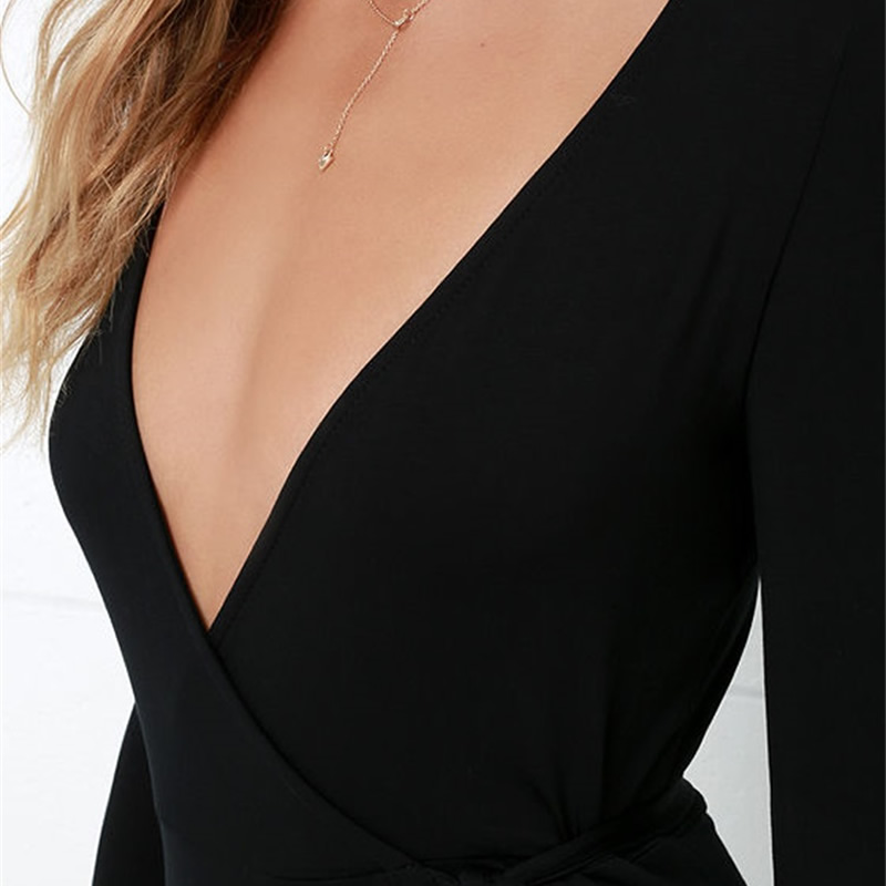 robe noire longue ռոմանտիկ զգեստ boho split Slim sexy - Կանացի հագուստ - Լուսանկար 6