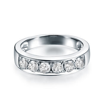 18K Diamonds  White Gold wedding Band 3