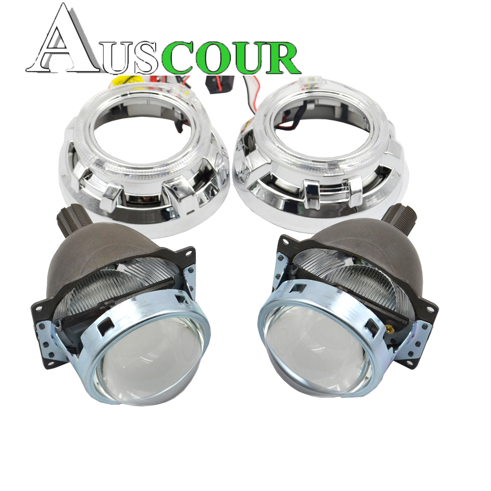 2pcs 3.0 inch bixenon HID projector lens 35W Xenon Bulb mask headlamp for H1 H4 H7 H11 9005 9006 Modify universal car assembly gztophid 3 bifocal q5 projector lens 35w hid bulb shroud and high low beam control wire for h1 h4 h7 h11 9005 9006