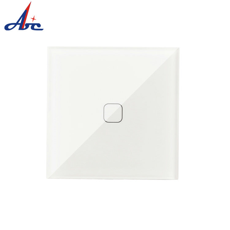 EU 1 Way Remote Touch Switch Wall Light Touch 86*86*33mm Screen Switch Wireless 2 Way Remote control Wall Touch Switch