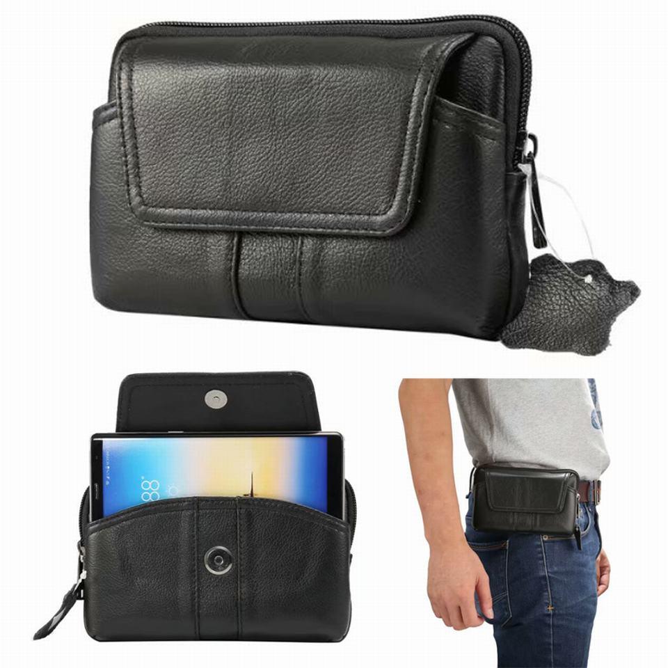Mobile ceinture cas pour huawei p20 lite p20 p10 lite p9 p8 lite 2017 compagnon 10 lite honneur 9 10 poche sac en cuir portefeuille zipper coque