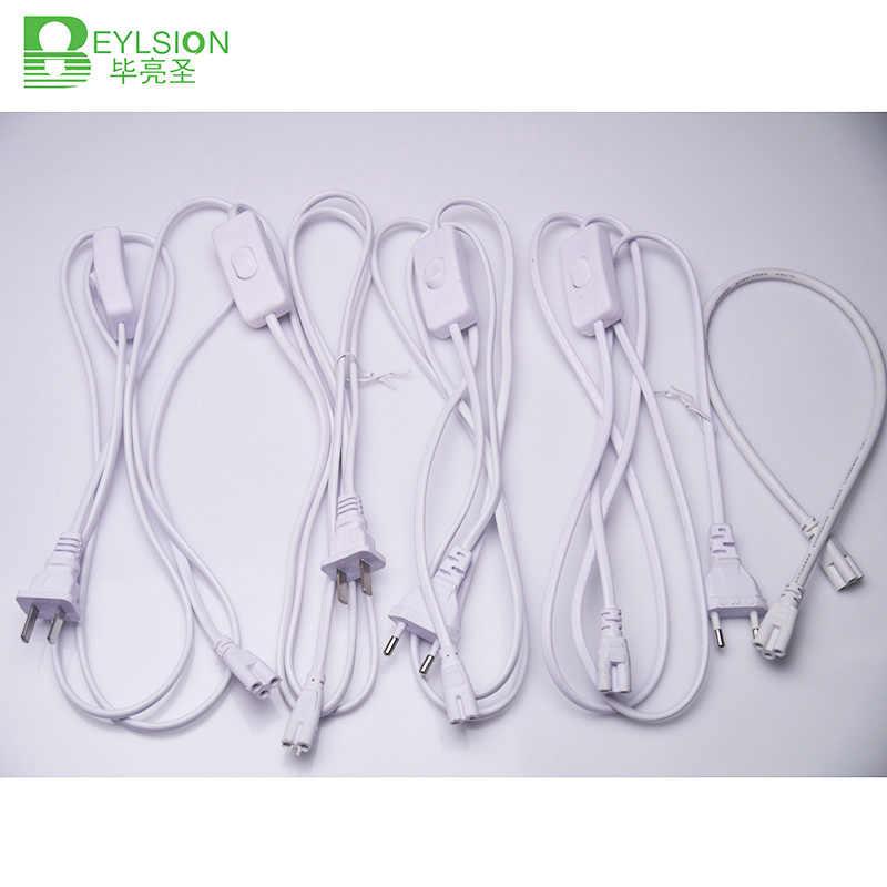BEYLSION T5 t8 Электрический провод кабельный разъём с переключателем удлинитель шнура питания светодиодный осветительный кабель