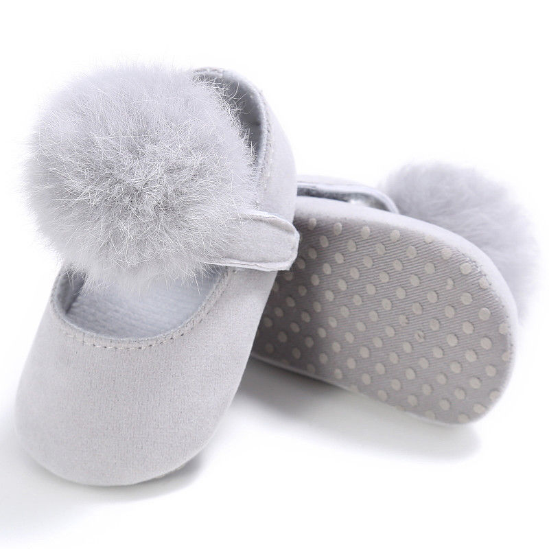 0 18M Newborn Babys Girl Plush Princess Crib Shoes Toddler Soft Sole Cotton Cute Infant Prewalker New Born Baby Shoes For Girls in First Walkers from Mother Kids