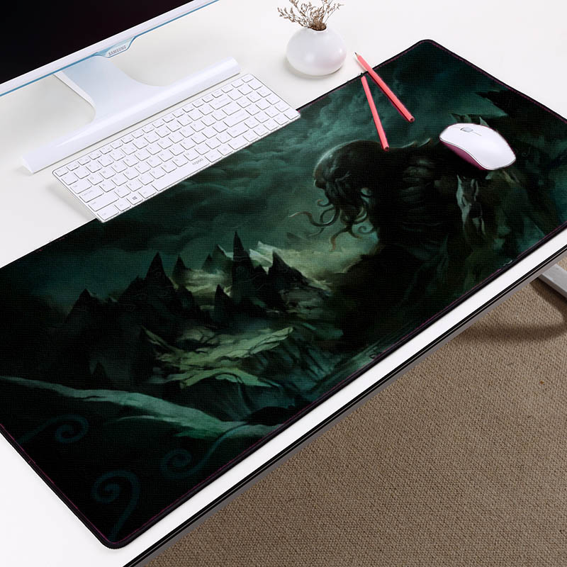 Congsipad Horror Games Cthulhu Style Sea Monster Pattern Gaming Mousepad  Mat Mousepad Rubber Mat Pc Computer Game Table Mat