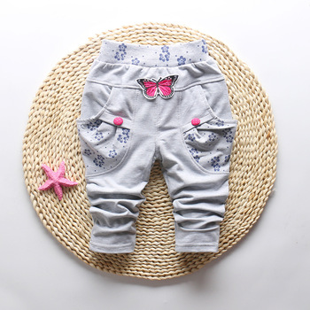 Butterfly Patterned Pants for Baby Girl 2
