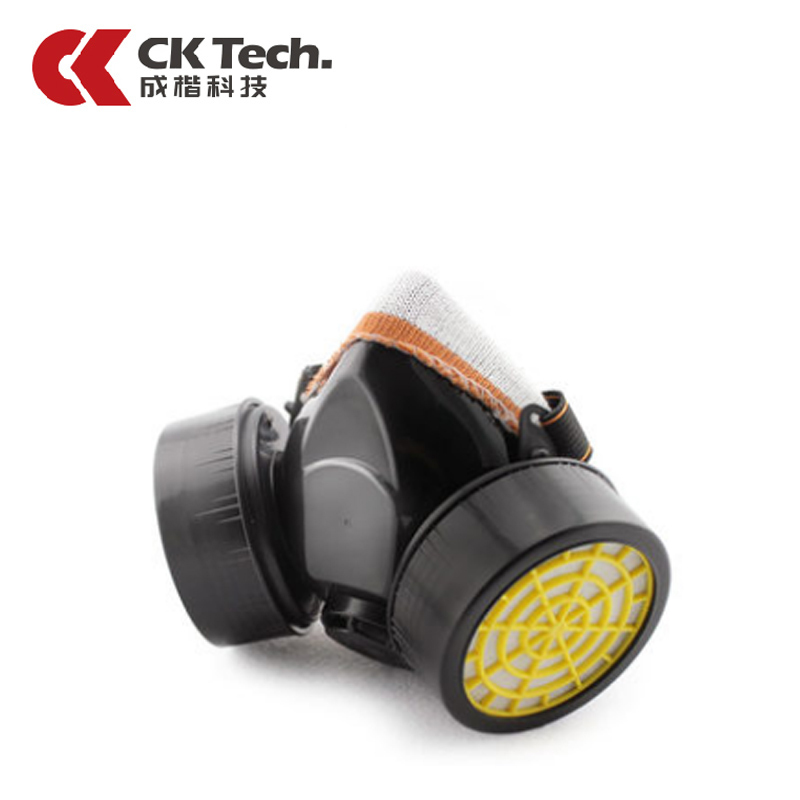CK Tech Chemical Respirator Activated Carbon Dust-tight Smoke-proof Face Gas Mask Pesticide Formaldehyde Dust Painted Mask 1006 купить