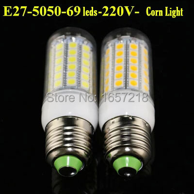 360 degrees 1pcs 2014 NEW High Bright 15W Wall LED lamps E27 69 LEDs 220V High Quality 5050 SMD Corn LED Bulb Ceiling light 2pcs high quality superb error free 5050 smd 360 degrees led backup reverse light bulbs t20 for hyundai i30
