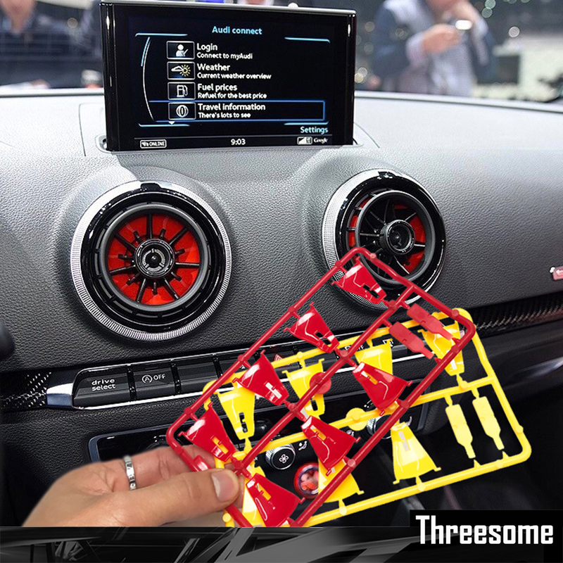 Srxtzm 4pcs Interior Front Dashboard Air Condition Cover For Audi A3