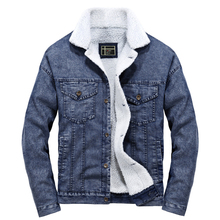 купить Robmoda 2019 Winter Fleece Jacket Men Casual Parkas Stand Collar Jeans Cloth Hot Sale New Arrival Warm Thick Parka Hombre Jacket по цене 2389.7 рублей