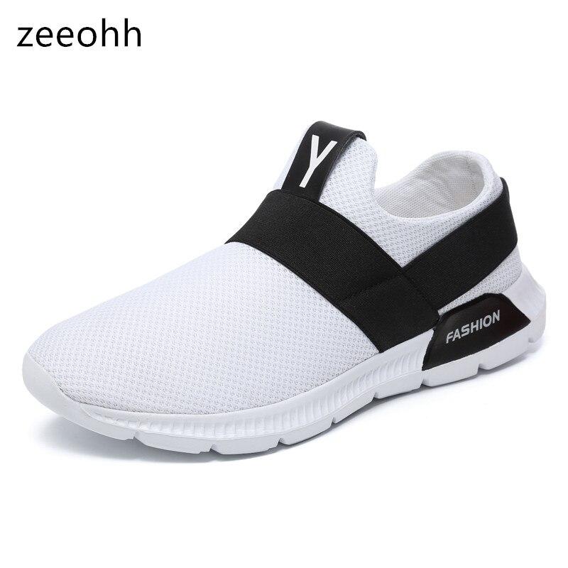 0abb3e5d7 Comprar Zeeohh 2018 Nova Marca Men Casual Shoes Primavera Verão Nova  Chegada de Moda Confortável malha Respirável Tênis Sapatas Da Juventude  Baratas Online ...