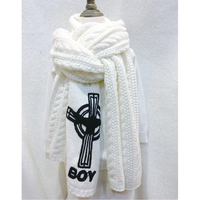 Marca Cruz patrón Boy London estilo bufanda de punto grueso hempp ...