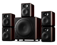 HiVi Swans H4 5.1 Channel Monitor Speakers HIFI Active Home Theater System H10 10 inch One way vented active subwoofer H4