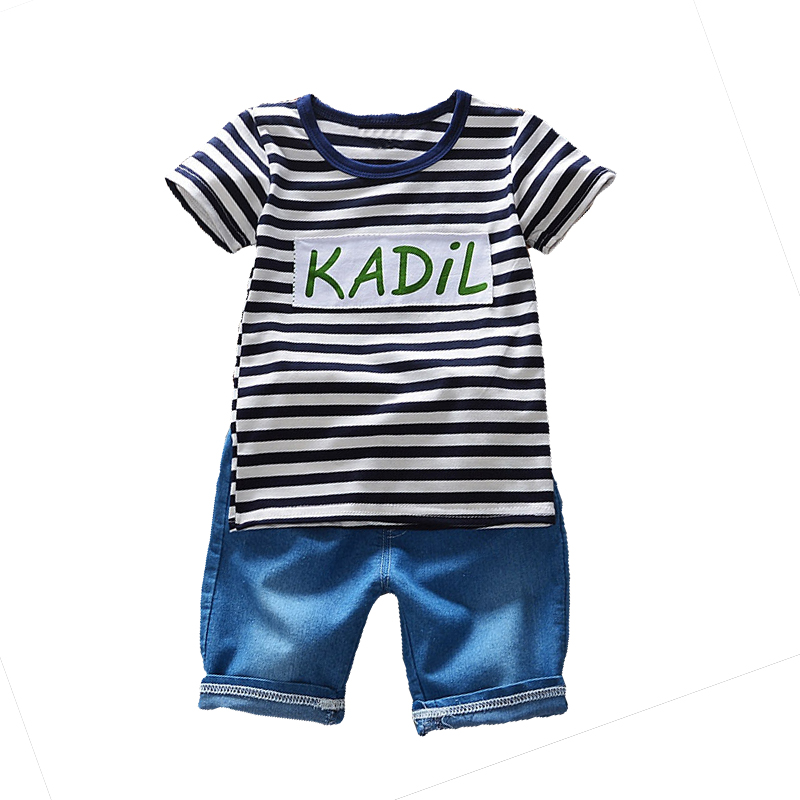 Summer Baby Boys Clothing Fashion Kids Boy Clothes Striped Short Sleeve T-shirt+Shorts 2pcs Outfit Suit Children Clothes Sets huawei ups2000 g 3krtl