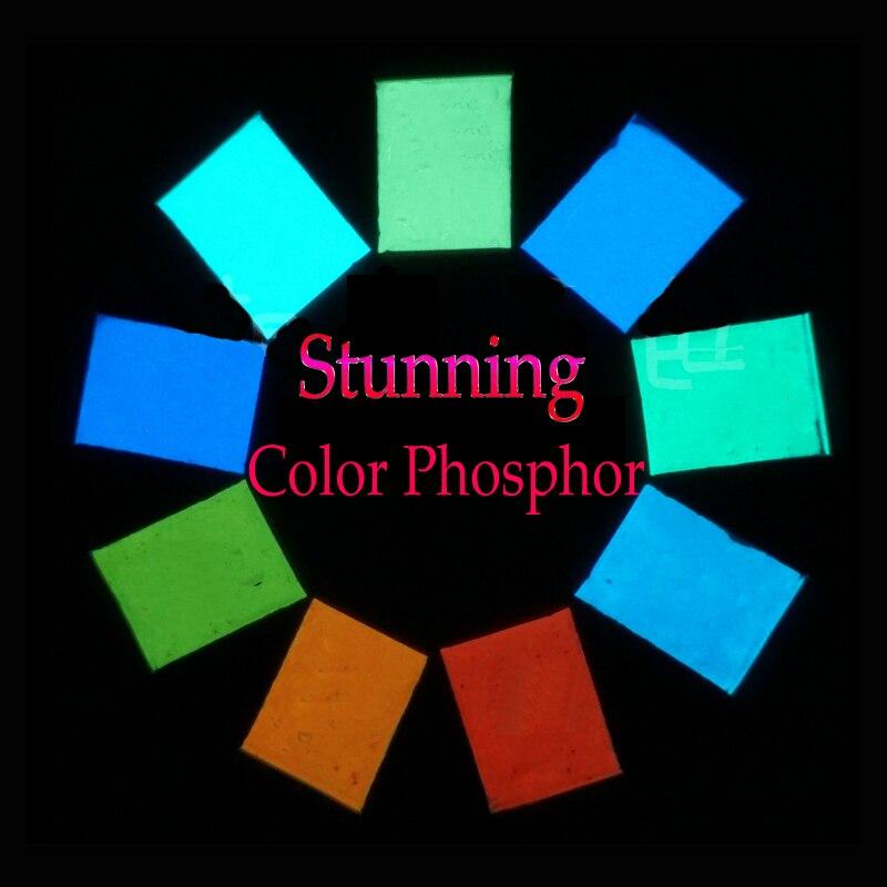 9 colors Color Phosphor Pigment Luminous Powder Coating DIY Photoluminescent Dust Acrylic paints Glow in Dark скейт мини круизер penny original 22 glow galactic glow purple aqua 6 x 22 55 9 см