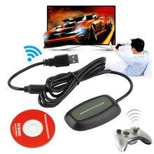 PC sem fio USB 2.0 Receptor para Xbox 360 Controlador Gaming Receiver Adaptador USB Receptor PC Para Microsoft Game Com CD
