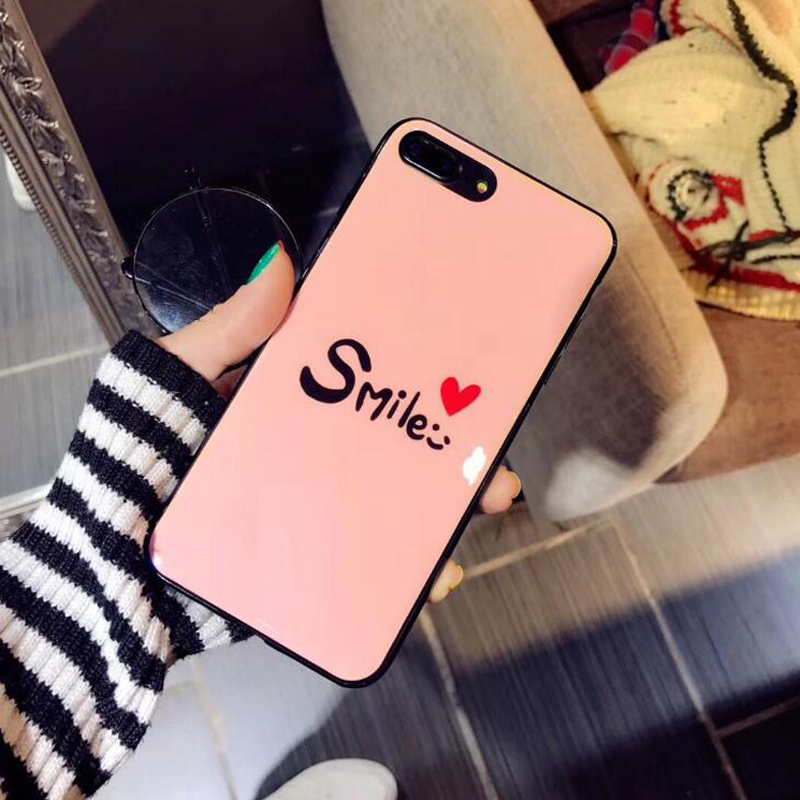 Smile phone case for iphone 7 Blu-ray Mobile Shell for iphone7plus Couple All-envelop Protection cover for 6s 6plus X