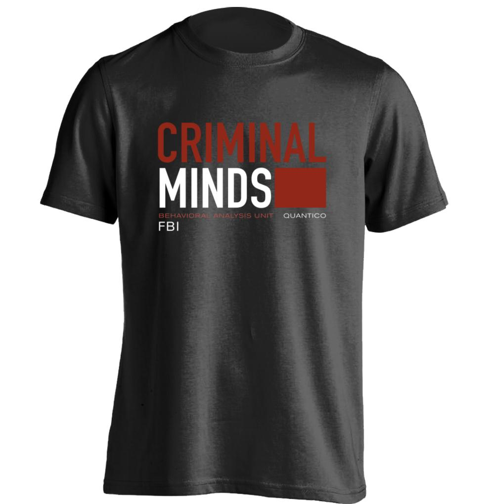 Gildan CBS TV Series Criminal Minds FBI BAU Behavioral Analysis Unit Mens & mens Cool T Shirt Design T Shirt